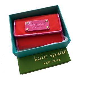 Kate Spade | Darla Orange & bright pink wallet